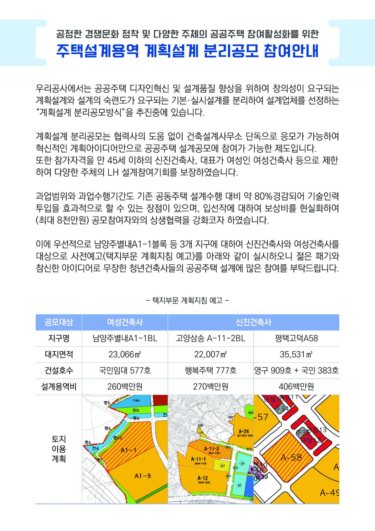 (붙임01) LH공공주택사업처 계획설계 분리공모 웹공지 (180718수정) 복사.jpg